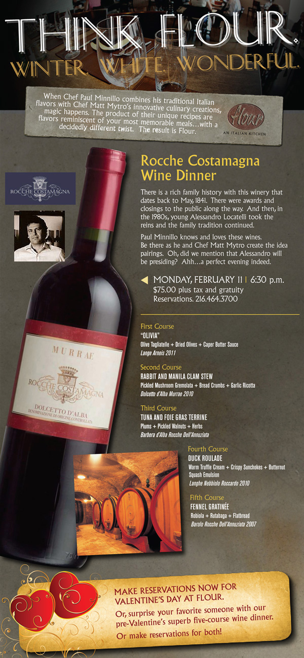 Rocche Costamagna Wine Dinner with Alessandro Locatelli